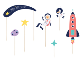 Cake toppers space (7st)