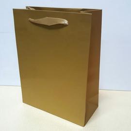 Paper gift bag gold