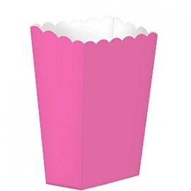 Popcorn/treat box hot pink (5st)