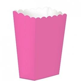 Popcorn/treat box hot pink (5st)