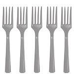 Plastic forks silver (20pcs)