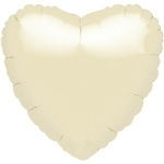 Foil balloon heart pearl ivory (18in)