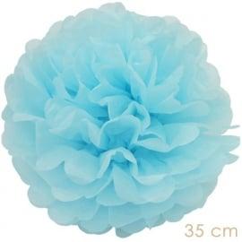 Pompom licht blauw 35cm