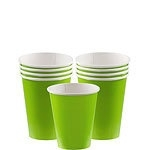 Paper cups lime (8pcs)
