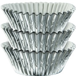 Cupcake cases zilver folie (45st)