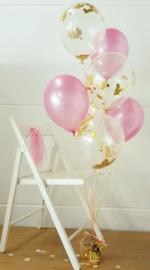 Ballonnen mix gevuld met helium (set van 6)