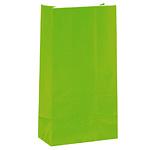 Papieren zakjes effen groen groot  (12st)