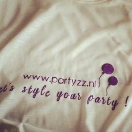 Party t-shirt met eigen tekst