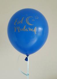 Eid balloons Partyzz mix blue gold (5pcs)