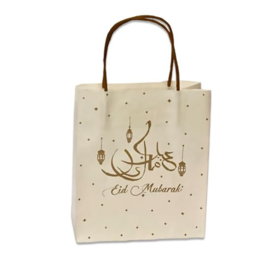 Gift bags Eid white/gold large (3pcs)