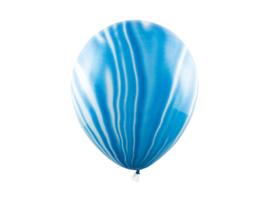 Ballonnen marmer blauw (6st)
