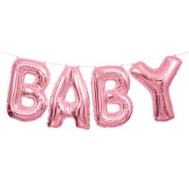 Balloon bunting baby pink