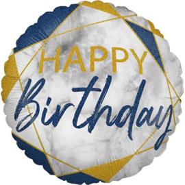 Folie ballon Happy Birthday Navy blue