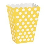 Treat box yellow polka (8pcs)