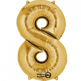 Golden foil balloon 8