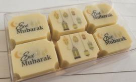 Eid Mubarak white chocolates (6pcs)