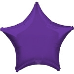 Foil balloon star purple
