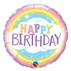 Foil ballon Happy Birthday Rainbow