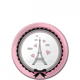 Paris party paper plates (8pcs)