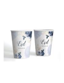 Paper cups Eid peony blue (6pcs)