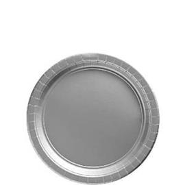 Papieren bordjes zilver (20st)