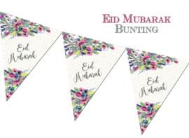 Eid bunting flags modern roses