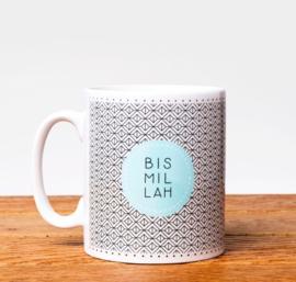 Mug Bismillah wit blue