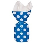 Cello bags blue dots (20pcs)