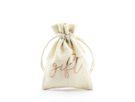 Gift pouch rose gold