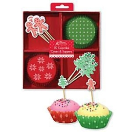 Cupcake set Christmas (30-delig)