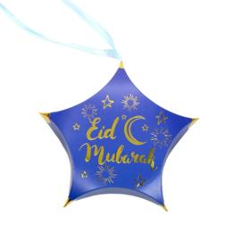 Eid gift box star blue