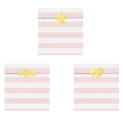 Snoepzakjes pastel roze (6st)