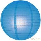 Paper lantern blue 35cm