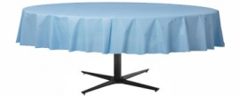 Tablecover baby blue plastic round