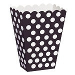 Treat box black polka dot (8pcs)