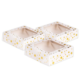 Snack boxes golden stars (3pcs)