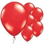 Balloons metallic red (10pcs)