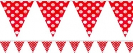 Bunting flags red polka dots