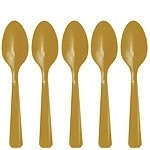 Plastic spoons gold (20pcs)
