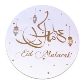 XL Raamsticker Eid Mubarak goud wit (46cm)