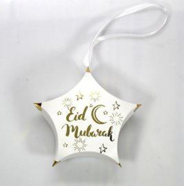 Eid gift box star white (ea)