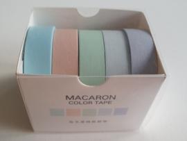 Washi tape pastel blue (5pcs)