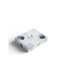 Pastry box peony blue (ea)