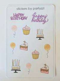 Stickervel Happy birthday