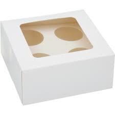 Cupcake doosje wit  4 vaks (pst)