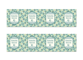 Ramadan  banner mint green lanterns