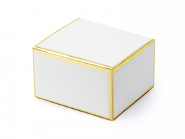 Gift box white gold foil (10pcs)
