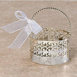 Silver basket favor