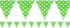 Bunting flags green polka dots