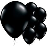 Balloons black (8pcs)